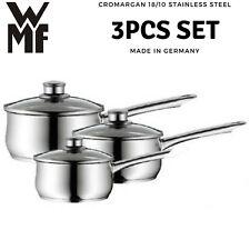 3pcs WMF Diadem Plus Saucepan Set 18/10 Stainless Steel Cromargan Cookware NEW