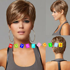 Fashion wig New sexy Women's short Mix Blonde Natural Hair wigs + free wig cap