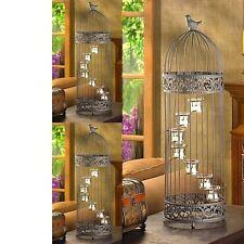"3 Birdcage Lantern Extra Large Candle Holder Wedding Centerpieces 28"" Tall"