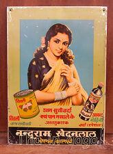 Ancienne Plaque Publicitaire Metal  24x34cm 340g Inde Tha-in-daga 24