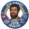 JOSH KENNEDY 2018 AFL Premiers Badge West Coast Eagles