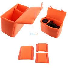 DSLR Camera Bag Insert Partition Padded Folding Divider Case Shockproof Orange