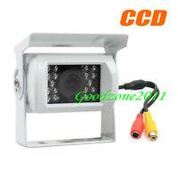 White 18 LED IR CCD Car rear view Reversing Camera for Bus Truck Caravan 12V/24V