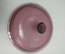 """Pyrex  Bowl Lid Glass 7"""" Rose/Pink Color No Chips or Cracks"""