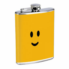 Smile Face Em2 Flask 8oz Stainless Steel Hip Drinking Whiskey