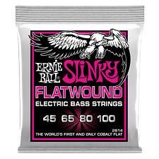 Ernie Ball Super Slinky Flatwound Cobalt Electric Bass Strings 45-100