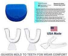 Night Guards Dental Nightguard Set with Case. 3 Teeth Nightguards Stop Grinding