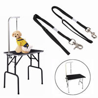 FJ- ADJUSTABLE DOG GROOMING TABLE ARM BATH RESTRAINT ROPE HARNESS NOOSE LOOP ORN