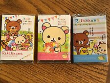 Set X3 San-X Rilakkuma Bear Post-it 4 Fold: Sticky Memo paper pad stickers notes