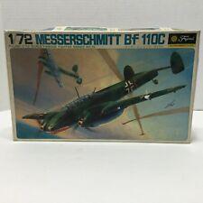 Vintage Fujimi Messerschmitt Bf 110C Model Kit 1:72 Scale