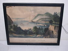 Vintage Currier and Ives Print-Lithograph-View from Fort Putnam-8X10