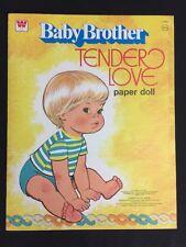 Vintage 1977 Baby Brother Tender Love Mattel Paper Doll Whitman Uncut
