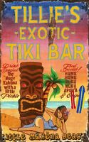 TILLIE'S TIKI BAR ~ Handcrafted Custom Made Wood Sign w/ Your Name ~ by PLD