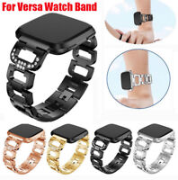Lady Bracelet Stylish Stainless Steel Watch Wrist Band Strap For Fitbit Versa 2