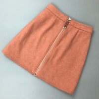 Auth Acne Studios Prisca Pink Rose Melange Wool A-line Mini Skirt Size 34 XS US2