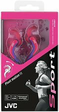 JVC ETX30 Auriculares audífonos deportivos e en oreja Impermeable Lavable Rosa ** nuevo **