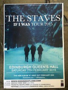 The Staves -  Concert / gig poster, Edinburgh  - February 2015