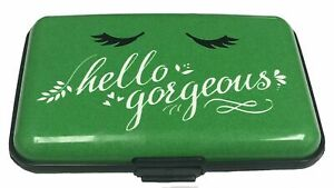 Hello Gorgeous Green RFID Secure Theft Protection Credit Card Armored Wallet New