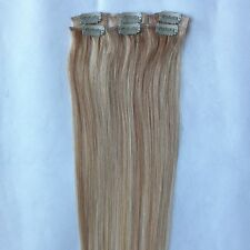 """REMY 15"""" 6PCS #27/613 REAL HUMAN HAIR CLIP IN EXTENSIONS 30gr Straight"""