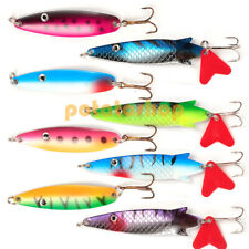 8 Packs Fishing Lures Metal Fishing Spoons Hard Spinners Casting Sinking  6.5cm