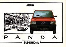 FIAT PANDA 4x4 D 1000 750 GIOVANI 24 PAGINA ITALIANO BROCHURE PROSPEKT CATALOGO 1987
