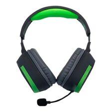 Auriculares verdes de diadema de juegos