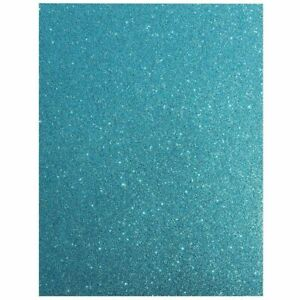24x Glitter Cardstock Paper for DIY Crafts Gift Box Wrapping, Blue 11 x 8.5 inch