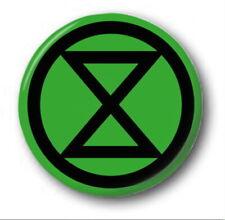 "EXTINCTION REBELLION - 25mm 1"" Button Badge - Climate Change Environment Protest"