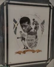 Ingemar Johansson & Floyd Patterson Dual Signed Poster Fight Night With COA Rare