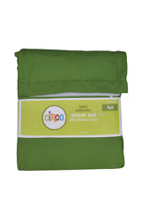 Circo FULL Solid Green Sheet Set Sheets Basic Collection 60% cotton Kids Child