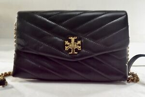 Tory Burch Black Quilted Leather Clutch/crossbody Bag $328.00 #105SW