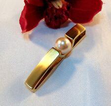 Intemporel plus belle Pierre Lang pendentif plaqué or avec perle Chaînes Remorque/BO 575