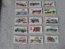 Brooke Bond Tea Cards History fo the Motor Car incomplete set in good condition