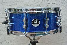 """Fügen Sie diese Sonor 14"""" Special Edition Blue Sparkle Snare Drum zu ihrem Drum Set V262"""