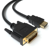 1m HDMI auf DVI Highend Kabel FULL HD 1080p Meter PC zu Monitor Beamer Adapter