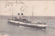 "London, Brighton & South Coast RR Postcard. SS ""Brighton"" Troop Ship. WW1.  1908"