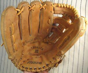 VERY RARE  Quality 1980's Mizuno World Win TSUBOTA III baseball glove LH throw