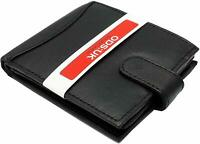 Genuine Leather Men Unisex RFID SAFE Contactless credit Card Blocking wallet