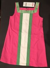 NWT Gymboree Garden Friends 3 3T Pink & Green Pieced Stripe Dress