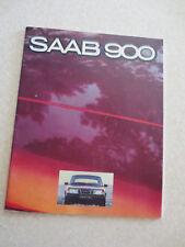 1980 Saab 900  & 900 turbo automobile advertising booklet