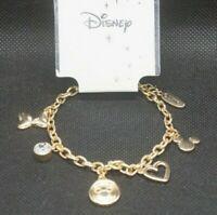 Disney Mickey & Minnie Mouse Maus Bettel Armband Schmuck Gold Farbend Damen