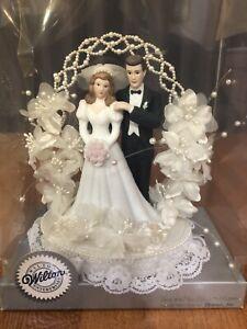 Vintage 1993 Wilton Wedding Cake Topper NOS Timeless Black Coat Ellen Williams