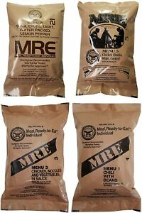 MRE U.S. MILITARY 4 Pack  Random Selectiion - MEAL, READY TO EAT