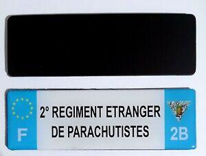 Magnet flexible type PLAQUE D'IMMATRICULATION Voiture 2°REP LÉGION ÉTRANGÈRE 2B