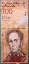 VENEZUELA 100 BOLIVARES NOTE ISSUED 29.10. 2013,  P 93 c, VERTICAL FACE