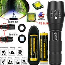 200000LM  LED High Power Flashlight Tactical Focus Torch Lamp Light & Charger