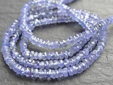 "HAND FACETED TANZANITE RONDELLES, 2.5mm / 3.5mm, 13"", 210 beads"