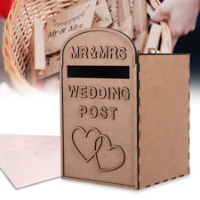 Personalised Wooden Wedding Card Post Mail Box Guest Wedding Decoration