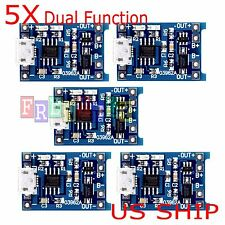 5pcs 5V 1A Micro USB 18650 Lithium Battery TP4056 Charging Board Charger Module