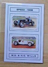 "WILLS CIGARETTE CARDS 'SPEED - 1938' MERCEDES-BENZ GENUINE MOUNTED 6""X4"""